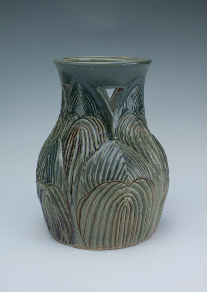 carved vase